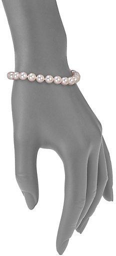 Mikimoto 6MM-7MM White Akoya Pearl & 18K White Gold Necklace, Bracelet & Earrings Set