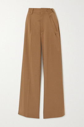 MM6 MAISON MARGIELA Pleated Twill Wide-leg Pants - Beige