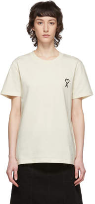 Ami Alexandre Mattiussi Off-White Embroidered Heart T-Shirt