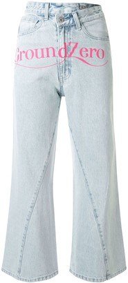 Ground Zero High Rise Cropped Jeans