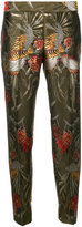P.A.R.O.S.H. floral tapered trousers