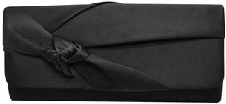 Wocharm Wedding Bridal Prom Handbag Ladies Satin Evening Clutch Bag (Black)