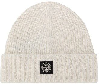 Stone Island Junior TEEN ribbed knit beanie