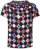 Emilio Pucci mosaic print shortsleeved blouse