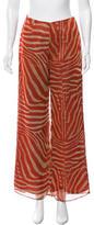 Anna Sui Printed Wide-Leg Pants