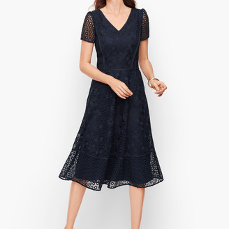 Talbots Lace And Eyelet Fit & Flare Dress