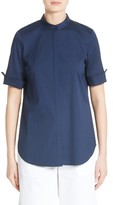Lafayette 148 New York Women's Theodora Stretch Cotton Blend Top