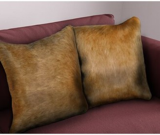 Foundry Select Trombley Square Leather Pillow Cover & Insert