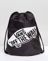 Vans Off The Wall Drawstring Bag In Black