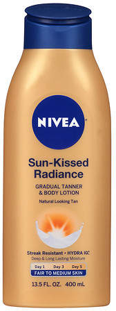 Nivea Sun Kissed Radiance Gradual Tanner & Body Lotion Fair to Medium