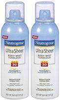 Neutrogena Ultra Sheer Body Mist SPF 30-5 oz, 2 pack