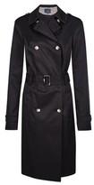 Dorothy Perkins Womens Tall Black Button Rain Mac, Black