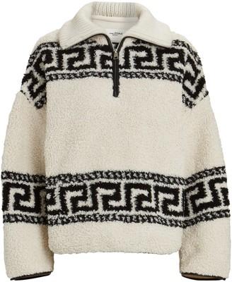 Etoile Isabel Marant Garner Half-Zip Fleece Sweatshirt