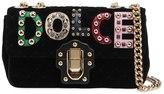 Dolce & Gabbana Small Lucia Velvet Bag W/ Logo Patches