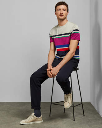 Ted Baker ROCKIN Striped cotton T-shirt