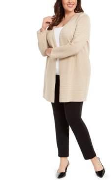Alfani Plus Size Metallic Striped Cardigan, Created For Macy's