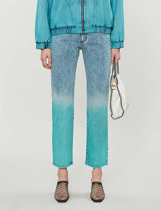 Stella McCartney Faded straight mid-rise jeans