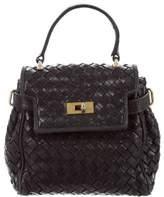 Charles Jourdan Mini Intrecciato Leather Handle Bag