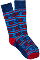 Cufflinks Inc. Rebel Stripe Navy Crew Socks