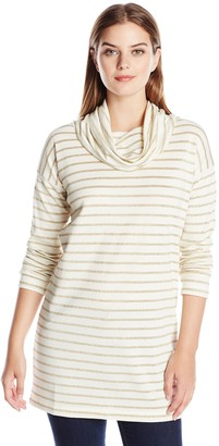 Joan Vass Women's Long Sleeve Cowl Top