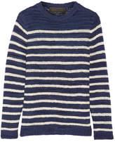 The Elder Statesman Picasso Striped Cashmere Sweater - large