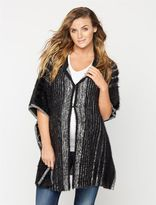 A Pea in the Pod Poncho Wool Maternity Jacket