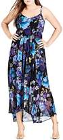 City Chic Falling Floral Maxi Dress