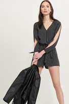 Dynamite Wrap Romper with Sleeve Cutouts