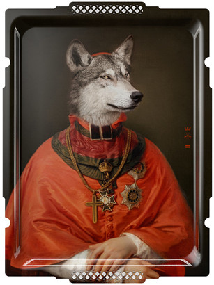 Ibride Galerie De Portraits - Rectangular The Wolf Tray