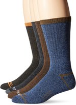 Dickies Men's 4 Pack Split Rib Moisture Control Crew Socks