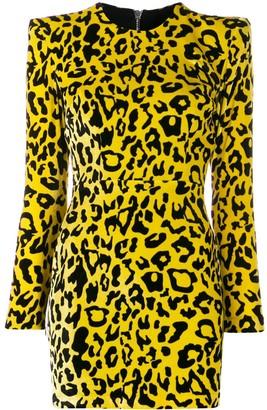 Alex Perry velvet leopard print dress
