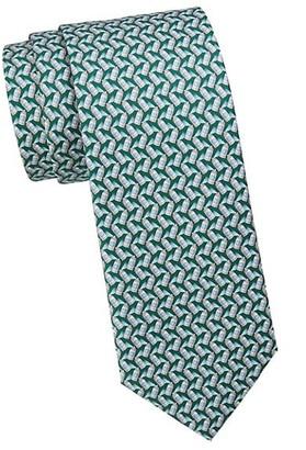 Salvatore Ferragamo Spray Can Print Silk Tie