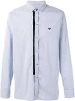 Emporio Armani concealed fastening striped shirt - men - Cotton/Lyocell - M