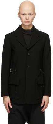 Regulation Yohji Yamamoto Black Waist Tighten Blazer