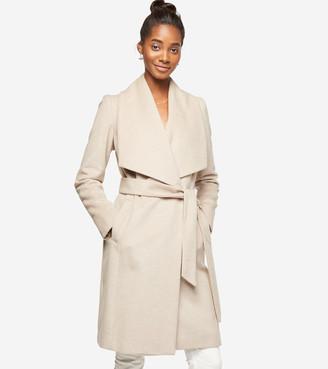 Cole Haan Slick Wool Wrap Coat