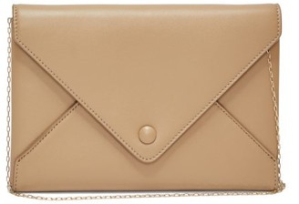 The Row Envelope Leather Clutch - Tan