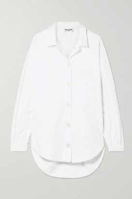 Opening Ceremony Oversized Brushed Cotton-poplin Shirt - White