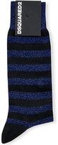 Dsquared2 Metallic Striped Lurex Socks