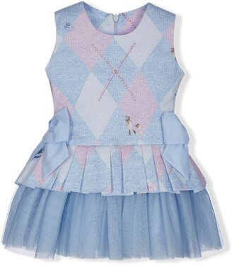 Lapin House Argyle Print Dress