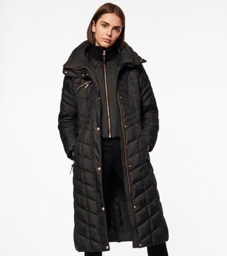 Andrew Marc MERLETTE CHEVRON QUILTED LONG-LINE PUFFER