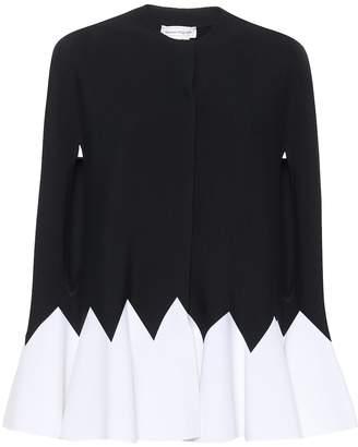 Alexander McQueen Wool-blend cape