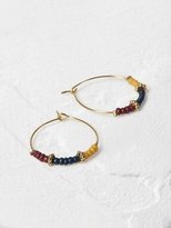 White Stuff Equator bead hoop earring