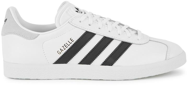 white leather gazelle