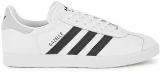 adidas Gazelle white leather sneakers