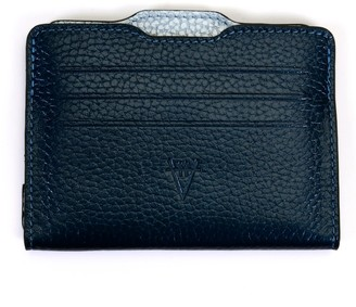 Atelier Hiva Double Card Holder Metallic Navy Blue & Metallic Baby Blue