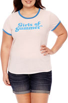 Arizona Girls of summer Graphic T-Shirt- Juniors Plus