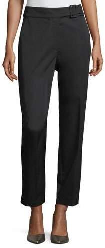 Robert Rodriguez Waistband Detail Wool Straight-Leg Pants