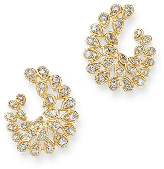 Bloomingdale's Diamond Front-to-Back Statement Earrings in 14K Yellow Gold, 2.0 ct. t.w. - 100% Exclusive