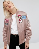 Asos Ultimate Bomber Jacket With Badges