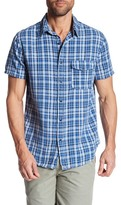 Save Khaki Plaid Short Sleeve Classic Fit Shirt